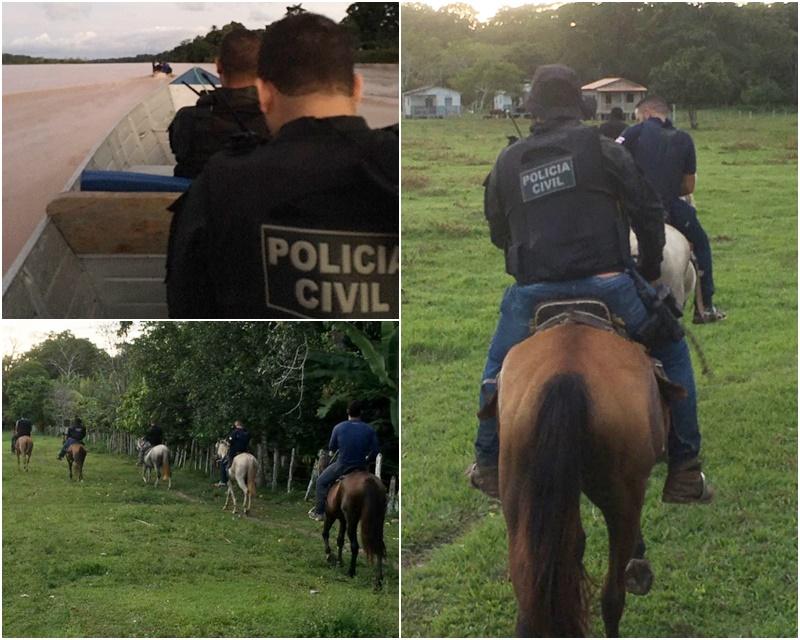 Policiais fazem buscas na zona rural de Belmonte para prender estuprador